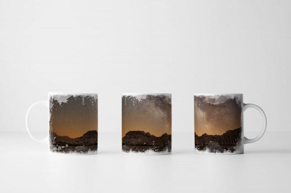 Tasse Milchstraße über Bardenas Spanien