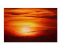 Gemälde abstrakt - rising Sun