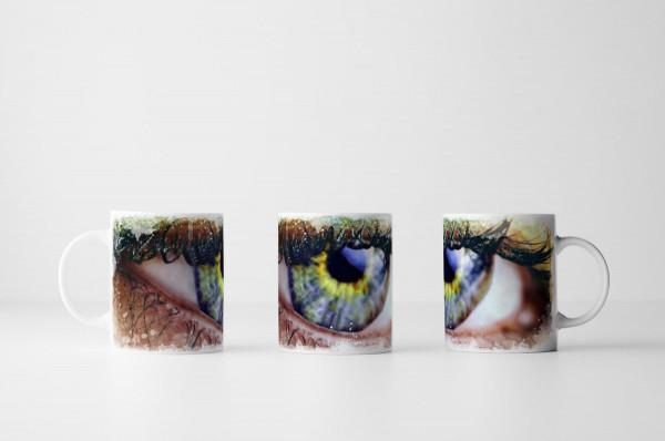 Tasse Geschminktes Auge