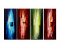 Gemälde abstrakt - Flames