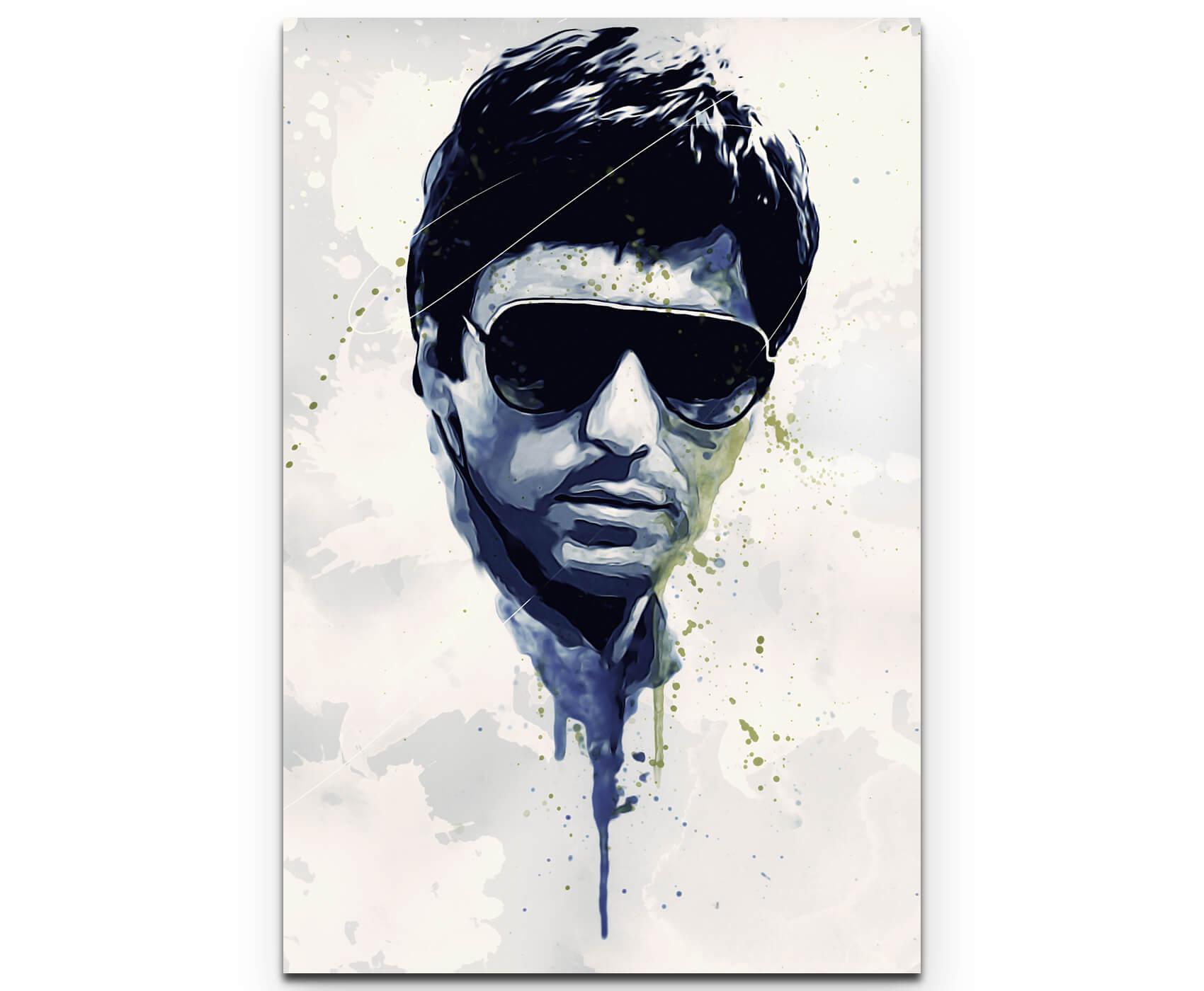 Al Pacino Scarface als Premium Leinwandbild | Splash Art ...