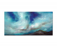 Gemälde abstrakt - Blue Cloudes