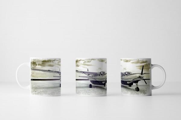 Tasse Infrarotaufnahme eines Flugzeugs