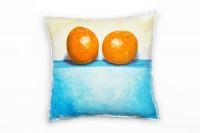Two Orange Deko Kissen