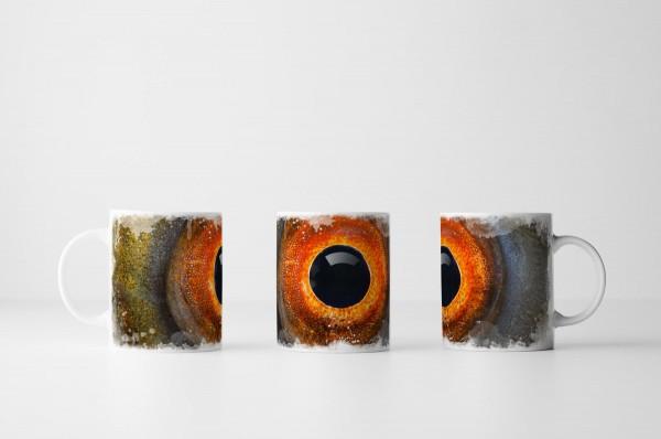 Tasse Detailaufnahme Auge der Schleie