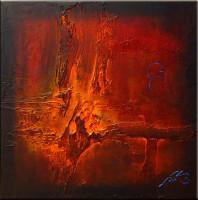 Gemälde abstrakt - Red Nova