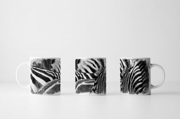 Tasse Zebraherde aus Kenia