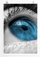 Poster abstrakt - Blue Eye