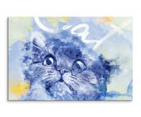 Süßer Katzenkopf als Premium Leinwandbild