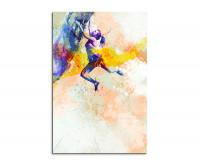 Leinwandbild Sportbild Klettern Splash Art