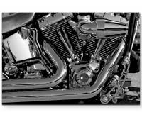Premium Leinwandbild Motorblock eines Motorrades