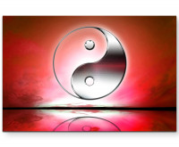 Premium Leinwandbild Yin und Yang