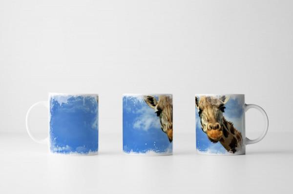 Tasse Süßes Giraffen Porträt