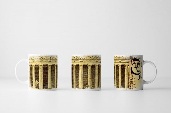Tasse Dollarnote im Detail