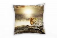 Der Leopard Deko Kissen