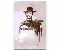 A Fistful of Dollars Clint Eastwood als Premium Leinwandbild