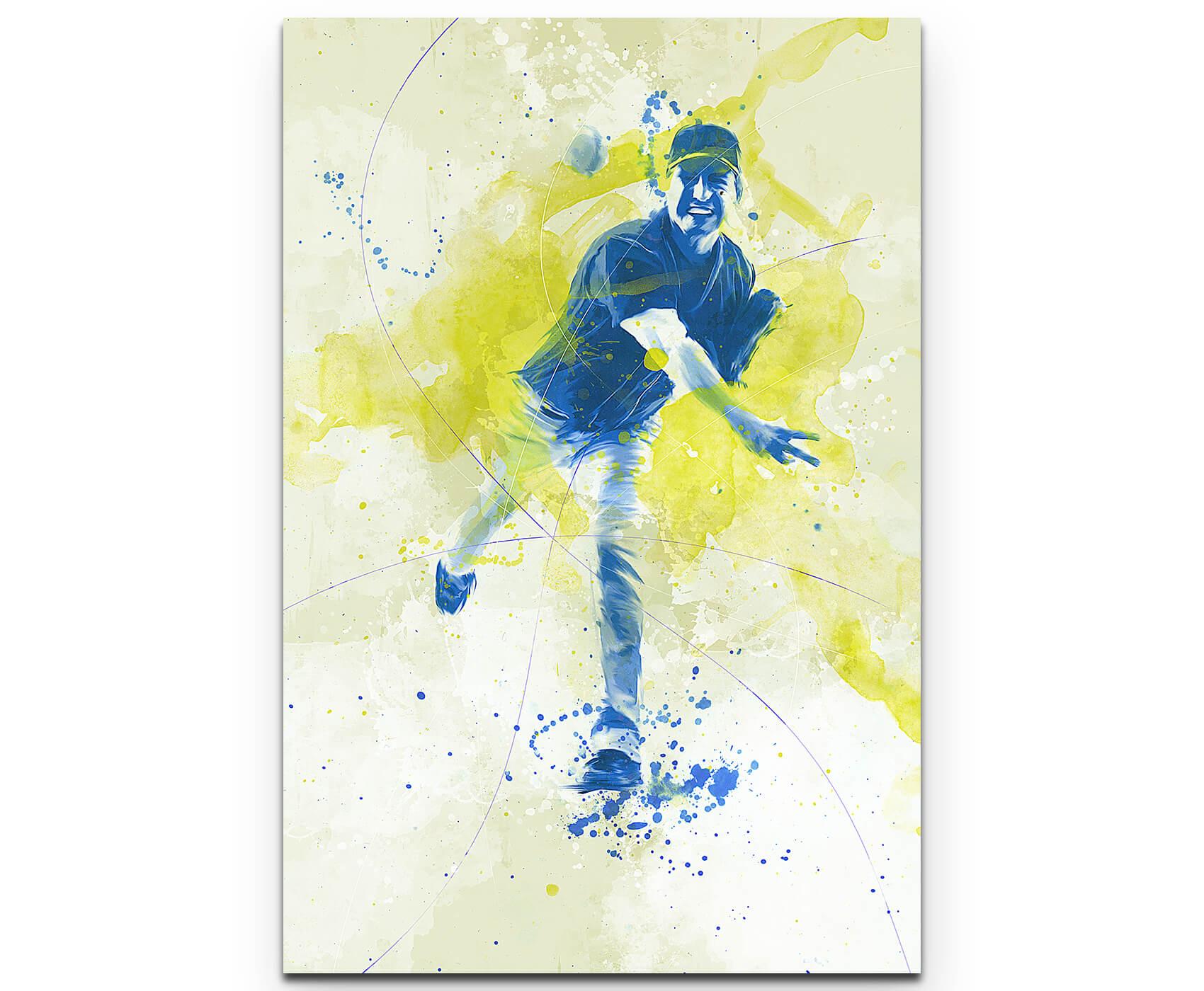 Baseball als Premium Leinwandbild | Splash Art Sport | HouseArt ...
