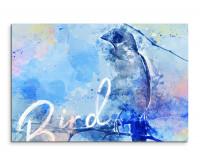 Vogel im Seitenprofil als Premium Leinwandbild