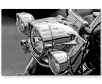 Premium Leinwandbild Scheinwerfer eines Motorrades