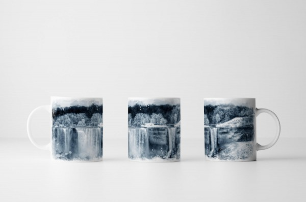 Tasse Niagara Wasserfall im Winter