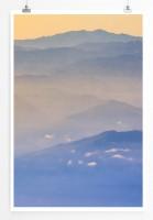 Poster Berge im Nebel