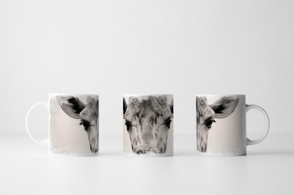 Tasse Giraffe im Porträt