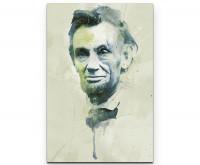 Abraham Lincoln I als Premium Leinwandbild