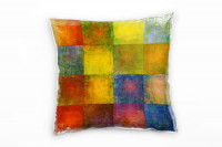 Color Quadrat Deko Kissen