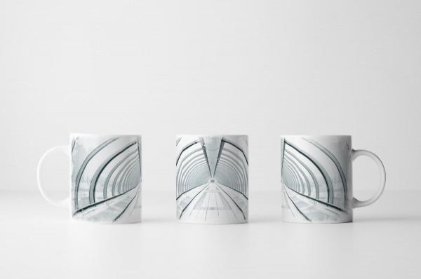 Tasse Weißer Glastunnel