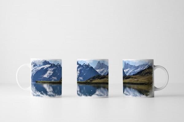 Tasse See mit Gebirge Schweiz