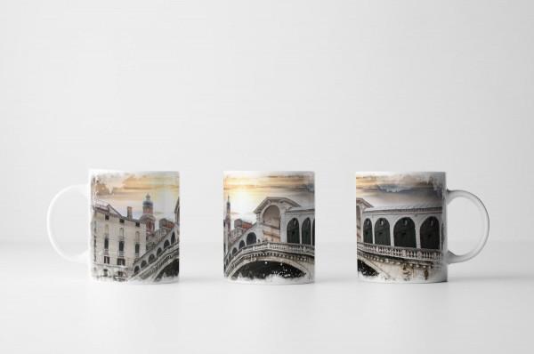 Tasse Rialto Brücke Venedig Italien
