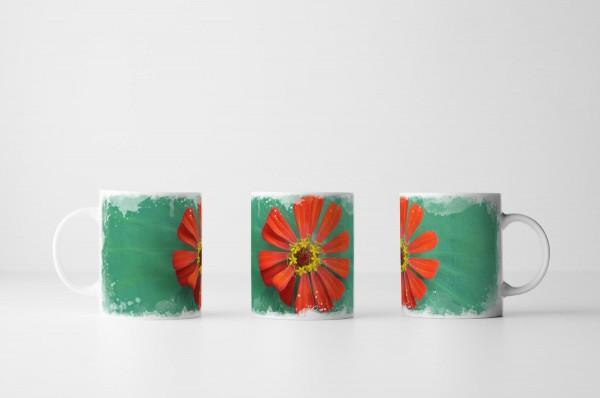 Tasse Rote Kaktusblüte