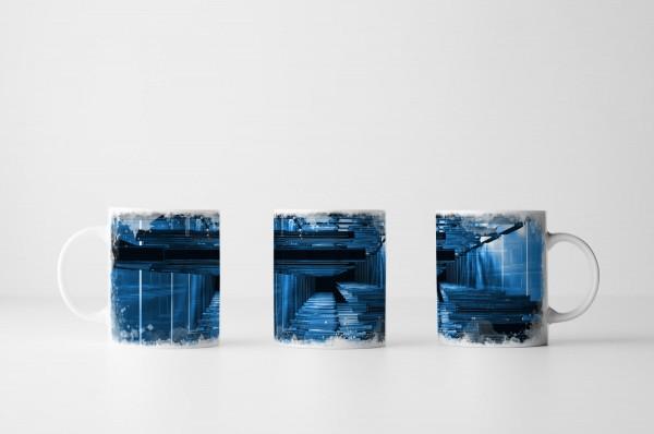 Tasse Blaue Streben