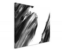 Leinwandbild abstrakt Schwarz und Weiß