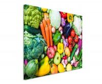 Premium Leinwandbild Buntes Gemüse