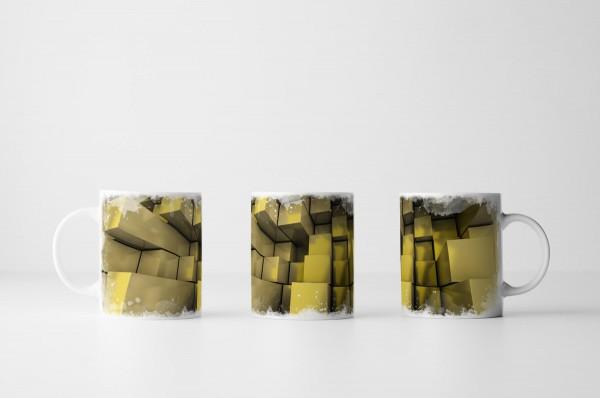 Tasse Gelbe Quader