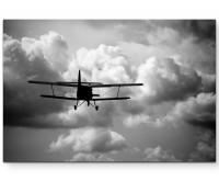 Leinwandbild Doppeldeckel beim fliegen
