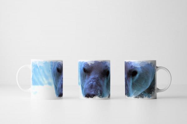 Tasse Polarbär im Porträt