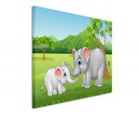 Fotoleinwand Elefanten