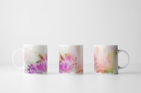 Tasse Orchideen in Zartrosa