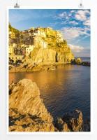 Poster Manarola Cinque Terre in Italien