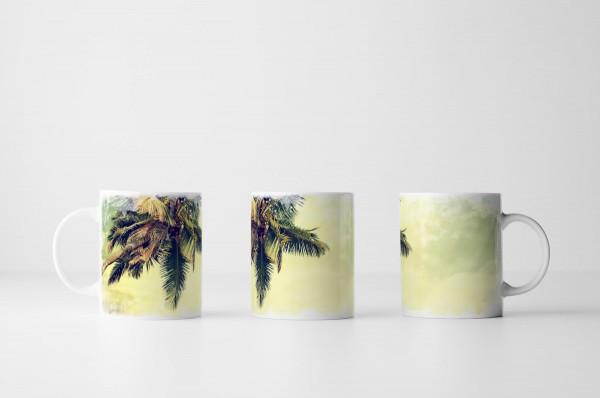 Tasse Vintage Palmen am Meer