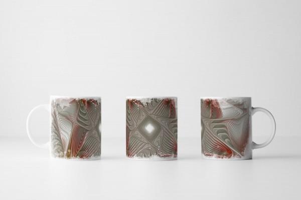 Tasse Fließende Geometrie