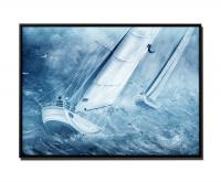 Segelboot im Sturm