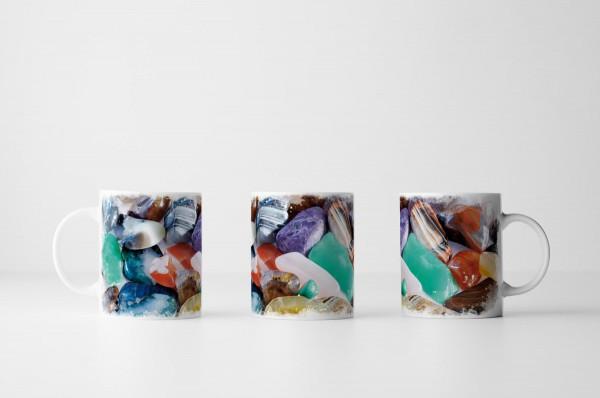 Tasse Sammlung von Halbedelsteinen