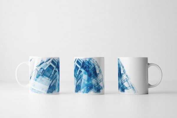 Tasse Abstrakte blaue Architektur