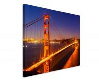 Leinwandbild Golden Gate Bridge bei Nacht