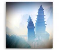 Leinwandbild Buddhistischer Tempel in den Bergen Zen-Buddhismus oder Zen