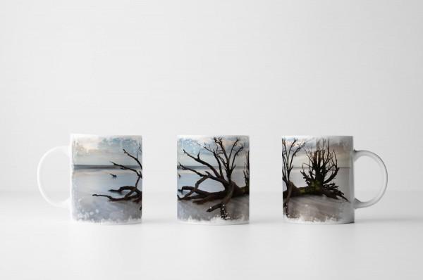 Tasse Baum in Boneyard Beach South Carolina USA