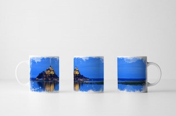 Tasse Mont Saint-Michel am Abend